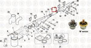 water bypass hose p n ech 8705 ref detroit diesel 8929875 160ax561 ebay