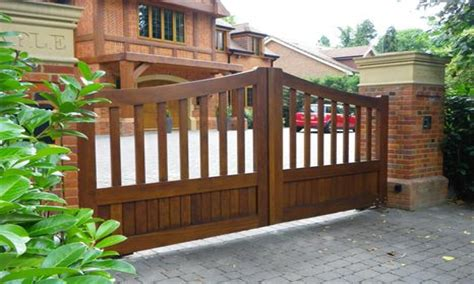 Driveway Gate Designs Wood Kitchen Accessories Wooden Driveway Gate Designs