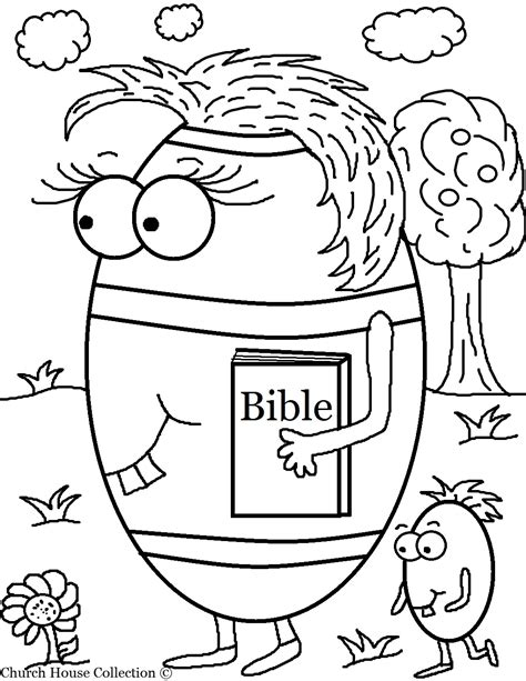 Coloring Page Bible by Easter Egg Carrying Bible Coloring Page
