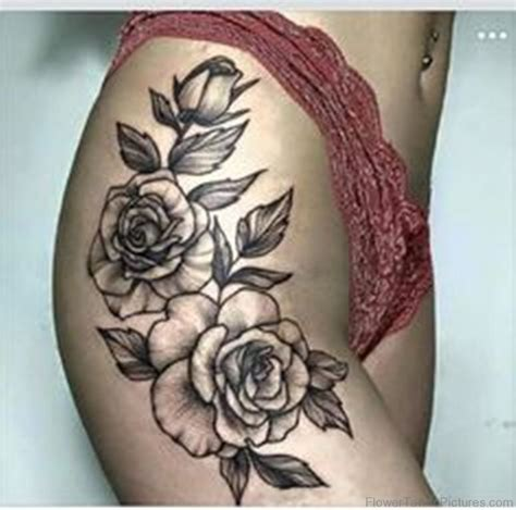 2 roses tattoo 68 phenomenal tattoos on thigh