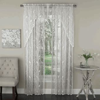 lorraine home fashions curtains lace curtains songbird lace curtain panel by lorraine