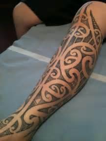 freehand maori kirituhi inspired leg higgins tattoo