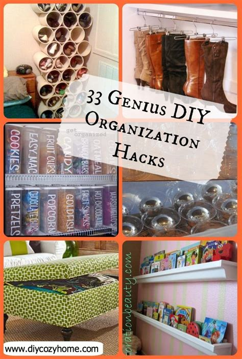 home hacks diy 33 genius diy organization hacks the idea for cans