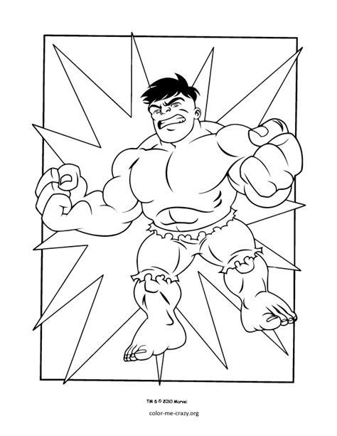 colormecrazy org super hero squad coloring pages