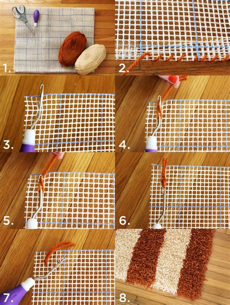 How To Make Handmade Rugs - diy latch hook rug a beautiful mess