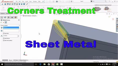 solidworks tutorial in hindi solidworks tutorial corner treatment sheet metal tutorial