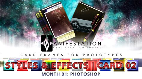 manifestation card template card 02 styles effects modern age photoshop gimp