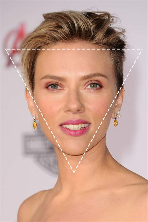 inverted triangle heart shape face haircuts how to figure out your face shape in 4 steps beautyeditor