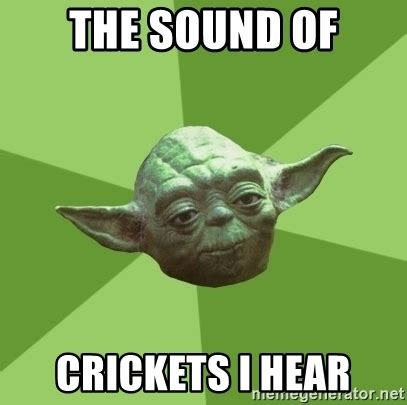 Crickets Meme - the sound of crickets i hear advice yoda gives meme