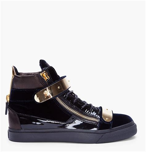 gold sneakers wish list giuseppe zanotti gold detailing high tops