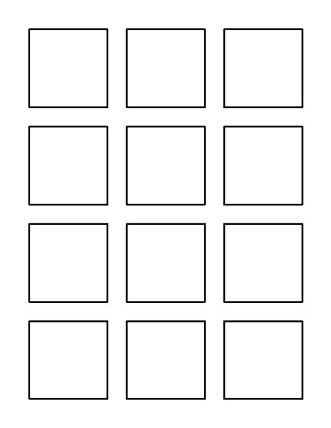 square templates 2 inch square pattern use the printable outline for