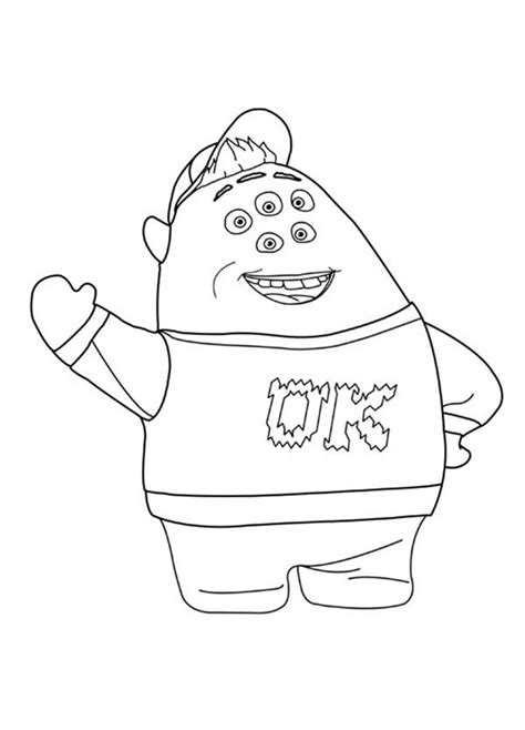 coloring pages of monster university squishy monsters university monsters university scott