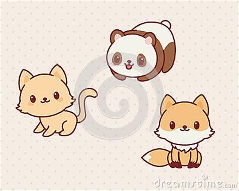 imagenes kawaii de zorros animales de kawaii ilustraci 243 n del vector imagen 70560571