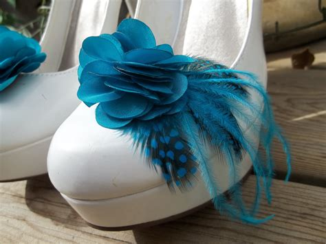 teal wedding shoes bridal shoe teal satin flower shoe feathered