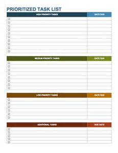 weekly priorities template 15 free task list templates smartsheet