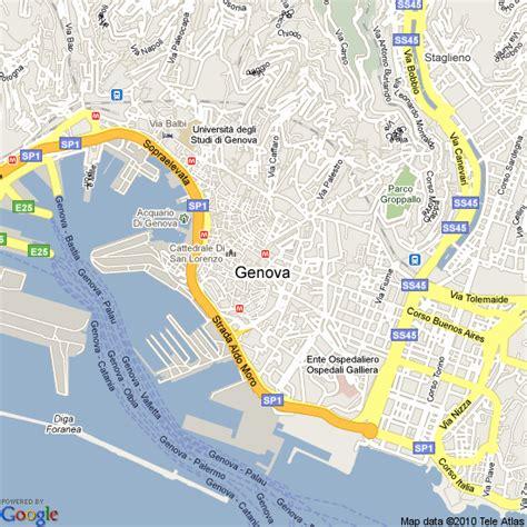 map  genoa italy hotels accommodation