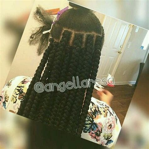 learn how to part hair for box braids jumbo box braids hair it tiz pinterest jumbo box
