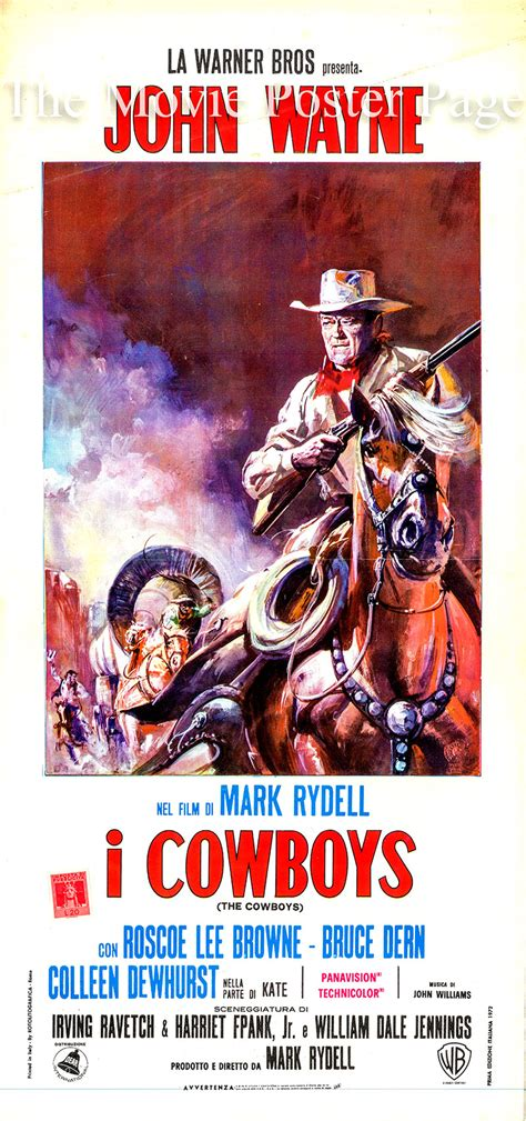 film cowboy italia cowboys the 1972 john wayne italian locandina f nm