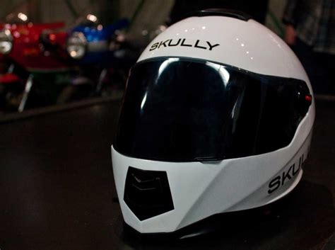 motorcycle helmet augmented reality the skully augmented reality motorcycle helmet makes