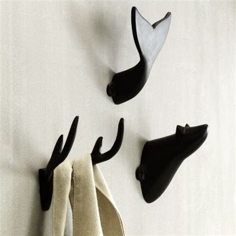 Modern Bathroom Hooks Modern Cast Hooks Eclectic Towel Bars And Hooks By West Elm