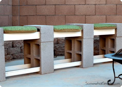 how to make a bench with cinder blocks how to make a cinder block bench somewhat simple