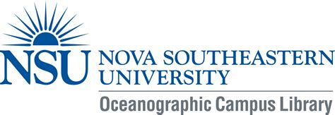 Nsu Mba Program by Ask A Librarian Nsu Oceanographic Cus Library