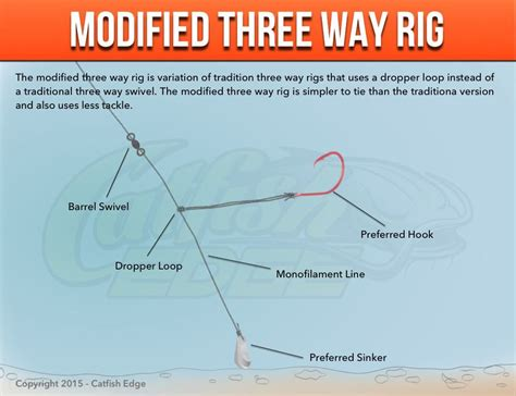 3 Was Way Tight by Three Way Rig For Catfish Traditional Modified And More