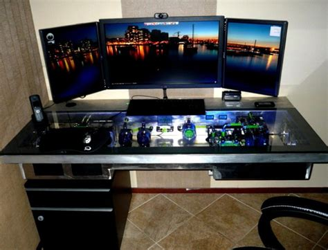 gaming pc desk gaming computer desk diy gaming computer desk plans
