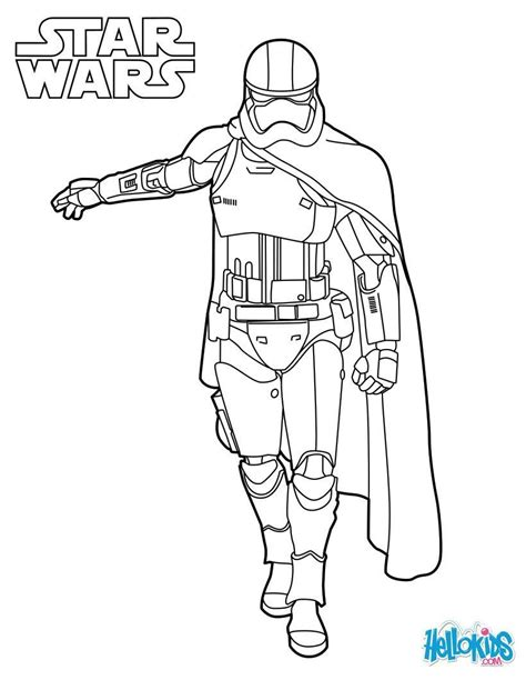 coloring pictures of rey from star wars captain phasma coloring sheet from the new star wars movie