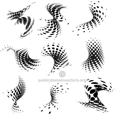 lgp dot pattern design vector abstract halftone dots design elements download