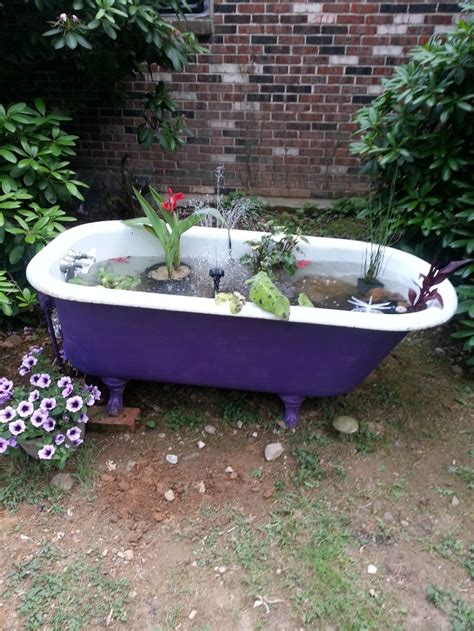 Backyard Bathtub by 57 Best Images About Bathtub Ponds On Gardens Backyard Ponds And Clawfoot Bathtub