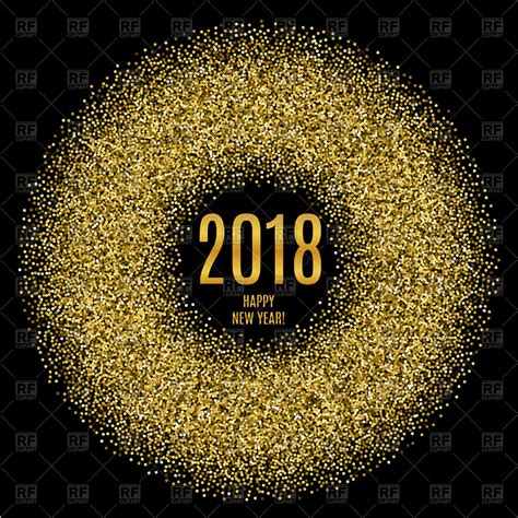 happy new year glitter graphics 2018 happy new year poster with glitter circle royalty