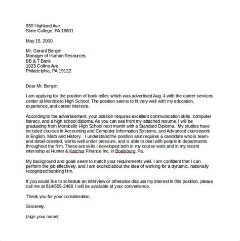 Cover Letter Templates For Jobs – 9  Job Cover Letter Templates ? Free Sample, Example