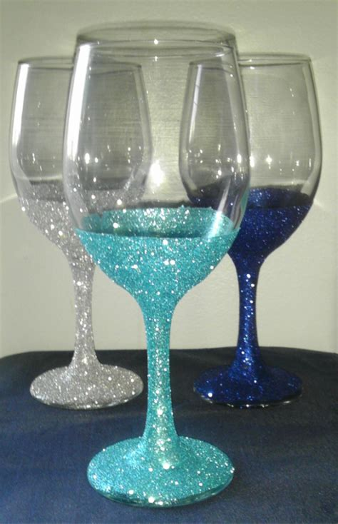 Decorating Glass With Glitter by Bm Glasses Weddingbee Photo Gallery