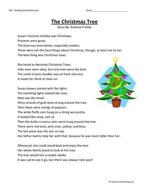free christmas printable worksheets reading comprehension christmas reading comprehension worksheets 4th grade
