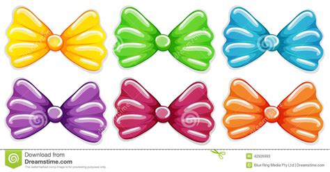 colorful bows colourful bows stock vector image 42926993