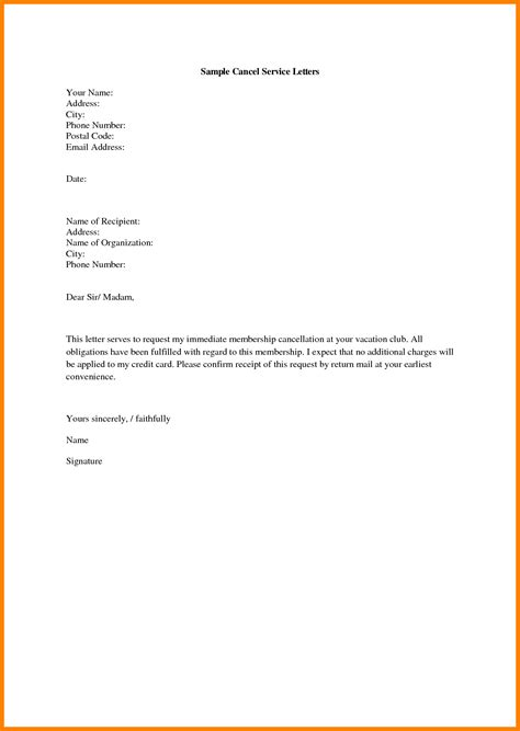 Decline Membership Letter 5 Sle Letter To Cancel Membership Resumed