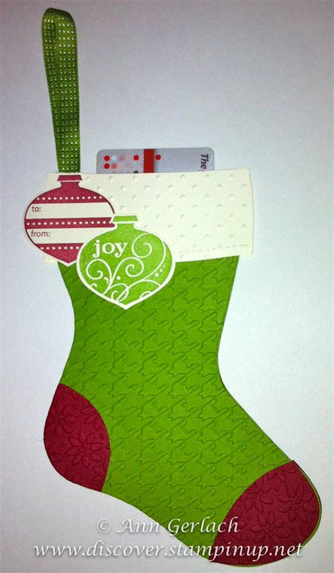 christmas stocking voucher holder discover ink ann gerlach independent stampin