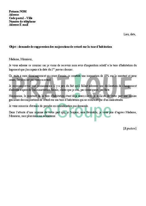 Exemple De Lettre De Demande Remise Gracieuse Modele Lettre Impots Majoration
