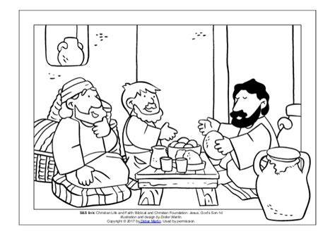 coloring page of jesus on the road to emmaus coloring pictures of the road to emmaus coloring pages