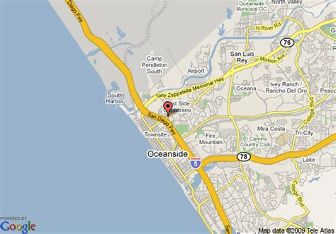 oceanside ca map map of ramada limited oceanside oceanside