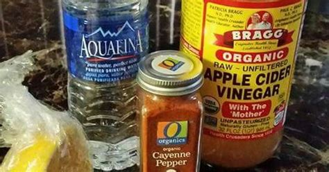 Apple Cider Vinegar Lemon Juice And Cayenne Pepper Detox by 4 Ounces Of Water 2 Tabkespoons Of Apple Cider 2 Piches