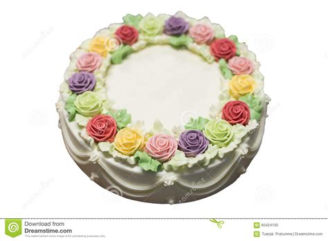 torte di compleanno con fiori torta di compleanno con i fiori fotografia stock