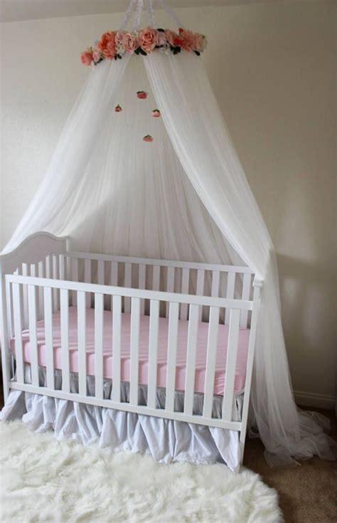 ella blue canopy floral crib canopy bed crown