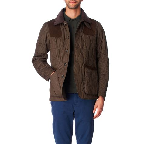 Olive Quilted Jacket by Barbour Quilted Sporting Jacket In Green For Olive