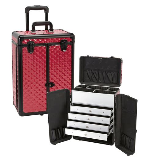 pro makeup case with drawers professional rolling makeup case with drawers yazmo