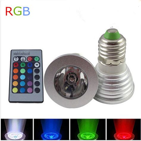 Lu Bohlam Led Rgb 3w 16 Colors With Remote E27 3w e27 gu10 rgb led bulb light 16 color rgb changing l spotlight with remote controller for