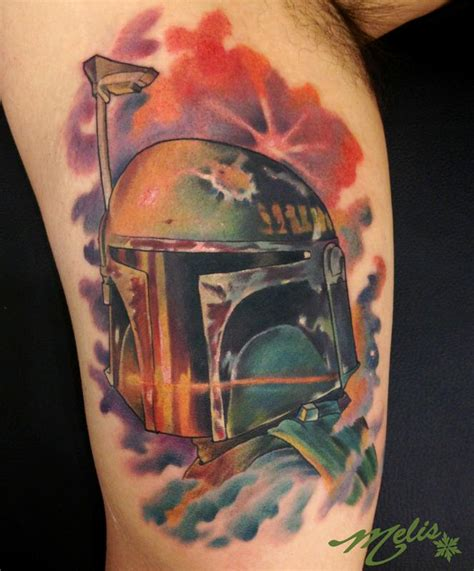boba fett tattoos spacey boba fett by fusco tattoonow