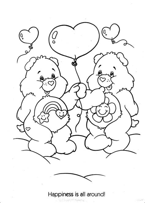 i love you bear coloring pages care bears in love coloring page