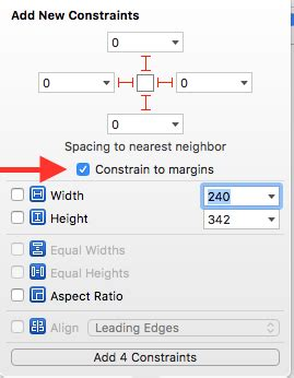 xcode layout margins ios sometime there is an extra spacing margin in xcode